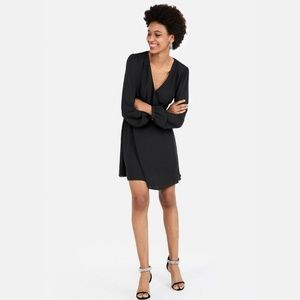 Express Textured Surplice Fit & Flare Dress